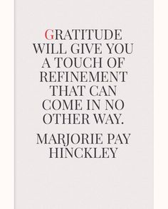 Marjorie Pay Hinckley on #gratitude