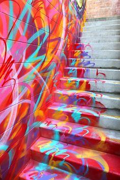 Street Art Paintings - MADSTEEZ brings his magic to the streets of Toowoomba & Sydney in Australia Murals Street Art, Graffiti Art, Street Art News, Best Street Art, Amazing Street Art, 3d Street Art, Mural Art, Street Artists, Street Magic