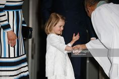 Princess Estelle of Sweden arrives at the Royal Palace to attend Te Deum Thanksgiving Service to celebrate the 70th birthday of King Carl Gustaf of Sweden on April 30, 2016 in Stockholm, Sweden.