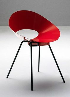 """NEW re-issue! Donald Knorr's 132U Chair was awarded first place by the Museum of Modern Art in the """"International Competition for Low-Cost Furniture Design"""" in New York 1948. In lacquered steel, made in Italy."""