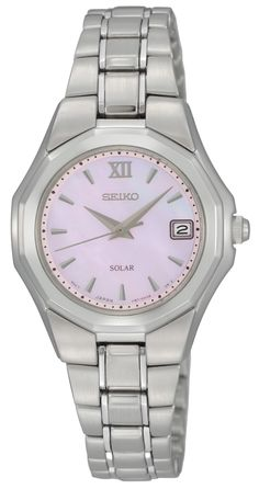 e4054633b Seiko Solar Watch, with Mother-of-Pearl Dial and stainless steel band,