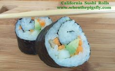 Homemade California Sushi Rolls recipe! Don't be intimidated to make homemade Sushi. This is super easy and costs a lot less than store-bought versions!