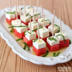 Watermelon, Feta and Mint Salad Bites ~ Madigan Made { simple DIY ideas }
