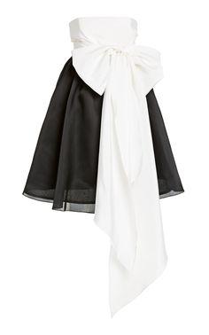 Strapless Babydoll Silk Faille Mini Dress by Carolina Herrera Kpop Fashion Outfits, Edgy Outfits, Celebrity Outfits, Girl Fashion, Fashion Dresses, Cute Outfits, Fashion Design, Celebrity Style, Carolina Herrera
