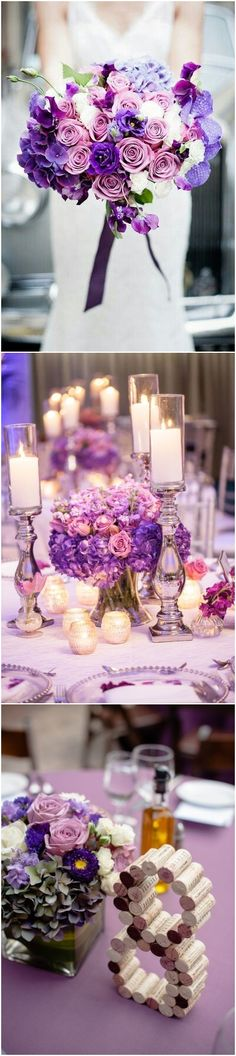 pantone wedding color 2018- Ultra violet and dusty rose wedding color palette idea / http://www.deerpearlflowers.com/ultra-violet-wedding-color-palette-idea/