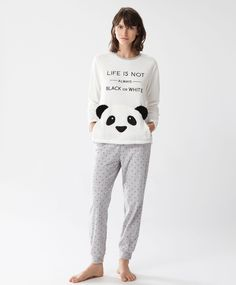 Long panda trousers - View All - Pyjamas - SLEEP | Oysho