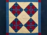 Amish Paper Bag Double Nine Patch Wall Hanging; Amish Country Quilts  Love this one!!!