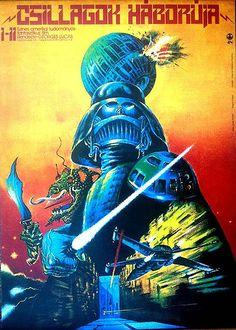 Hungarian Star Wars poster from 1977 Que grandes recuerdos mantengo con esta pelicula