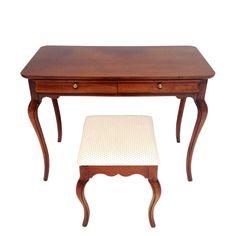 #frenchstylevanity #frenchhalltable #bedroomvanity #frenchcarvedvanity #vanityandstool #vintagefrenchvanity   French Style Vanity Hall Table by ErinLaneEstate on Etsy