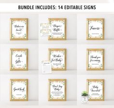 Complete Floral Baby Shower Bundle Ultimate Floral Baby | Etsy Baby Shower Signs, Baby Shower Games, Baby Word Scramble Answers, Baby Name Game, Baby Succulents, Who Knows Mommy Best, Wishes For Baby Cards, Celebrity Baby Names, Baby Prediction