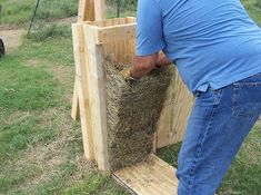 If you have a lot of pine trees on your land or somewhere you can collect the pine straw, here are plans to build a hand baler so you can make bales out of