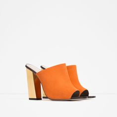 LEATHER MULE SANDALS-Heeled sandals-SHOES-WOMAN | ZARA United States