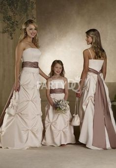 Graceful Bridesmaid Dress with Pick-up Skirt