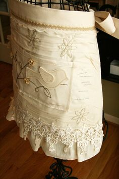 Apron ~ embroidery, lace, applique...my favorite things!