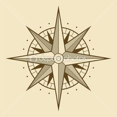 Illustration about Vector oldstyle wind rose compass. Illustration of navigational, lost, adventure - 4361807 Compass Tattoo, Compass Art, Compass Vector, Compass Design, Nautical Compass, Compass Rose, Free Vector Images, Vector Art, Wind Rose