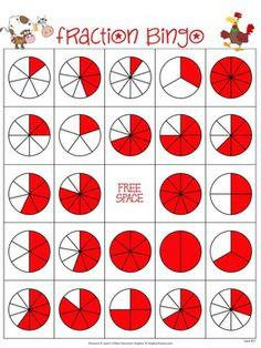 Canny image for fraction bingo printable