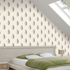 Crown Scandi Leaf Choc Natural Glitter Wallpaper - http://godecorating.co.uk/crown-scandi-leaf-choc-natural-glitter-wallpaper/