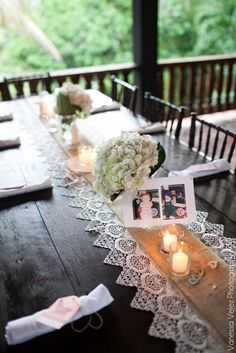 35 Wonderful Country Wedding Table Decorations Ideas That You Need To Try Asap - One of the more popular wedding themes trending today is the country wedding. Country weddings can run the gamut from having an outdoor ceremony and r. Latin Wedding, Spanish Wedding, Trendy Wedding, Our Wedding, Dream Wedding, Mexican Themed Weddings, Lace Table, Wood Table, Mexican Party