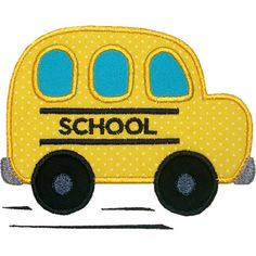 School Bus Applique Design