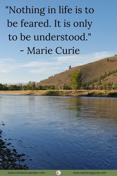 """""""Nothing in life is to be feared. It is only to be understood."""" - Marie Curie   #MDI"""
