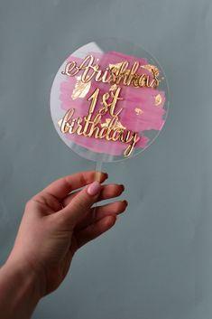 Diy Cake Topper, Acrylic Cake Topper, Wedding Cake Toppers, Cupcake Toppers, Black Wedding Cakes, Purple Wedding, Gold Wedding, Floral Wedding, Diy Crafts For Girls