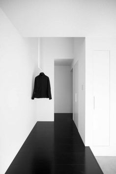 minimal + black floors   gable house by FORM/Kouichi Kimura Architects