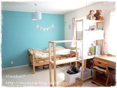 子ども部屋をIKEAのシェルフで間仕切り。 - Himekuri *