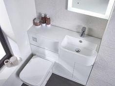 Small Narrow Bathroom, Bathroom Design Small, Bathroom Interior Design, Bathroom Ideas, Bathroom Designs, Bathroom Store, Bathrooms, Loft Bathroom, Bathroom Vanities