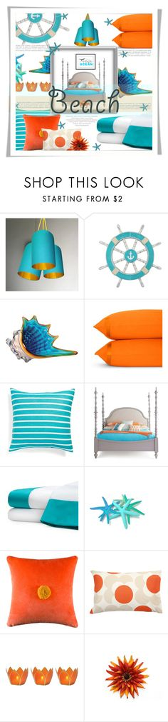 """""""Beach Room"""" by sisilem ❤ liked on Polyvore featuring interior, interiors, interior design, home, home decor, interior decorating, Matouk, Kate Spade, Orla Kiely and Cultural Intrigue"""