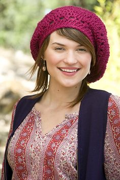 f4e7ecc608aaf Raspberry Beret by Linda Permann ~ Pattern available in Crochet Today!  Sept Oct 2009 This is my favorite beret pattern!