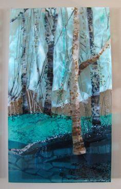 Trio of Trees: Fused Glass