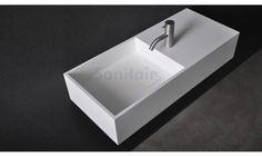 SSI Design Connecticut wastafel Solid Surface 75x32,5x15cm itemprop=