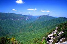 Linville Gorge Wilderness Area near Morganton and Linville, NC