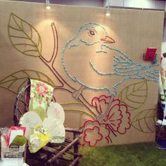 Make a GIANT embroidered bird?  Yes please!