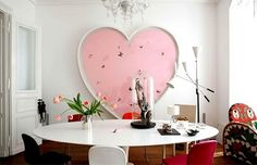 Love the round dining table