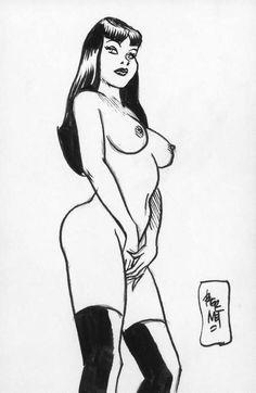 Art Sketches, Art Drawings, Jordi Bernet, Figure Sketching, Comic Character, Erotic Art, Fantasy Art, Pop Art, Concept Art