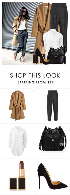 """""""How to: Wear a Camel Coat for Spring"""" by vallle ❤ liked on Polyvore featuring H&M, 3.1 Phillip Lim, rag & bone, MICHAEL Michael Kors, Tom Ford, Christian Louboutin, Yves Saint Laurent, women's clothing, women's fashion and women"""