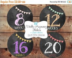 ON SALE Pregnancy Stickers,Weekly Pregnancy Stickers,Chalkboard Pregnancy Stickers,Pregnancy Announcement,Pregnancy Reveal,Baby Bump Sticker by blueeyesdesigns27 on Etsy https://www.etsy.com/listing/191106482/on-sale-pregnancy-stickersweekly
