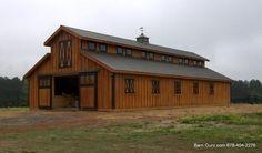 10 Stall Raised Aisle Horse Barn