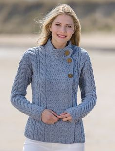 Luxury Trellis and Cable Cardigan