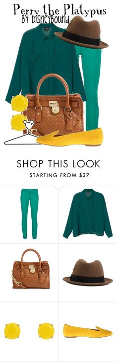Perry the Platypus by leslieakay on Polyvore featuring Monki, J Brand, Steven, MICHAEL Michael Kors, Kate Spade, Brixton, Disney and disney