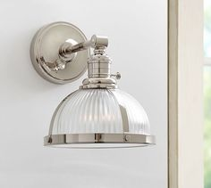 """PB Classic Sconce - Ribbed Glass 