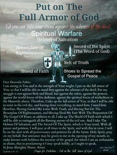 The Full Armor of God ~Prayer For Protection~ Ephesians Prayer Scriptures, Bible Prayers, Faith Prayer, God Prayer, Bible Verses, Prayer Quotes, Bible Quotes, Night Prayer, Qoutes