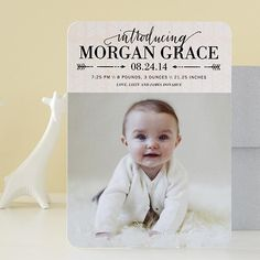 A debut this beautiful calls for style from the perfect birth announcement to show off your little one's smile.