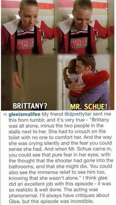 This was by far my favorite episode. It had such an impact on me, and Brittany is definitely one of my favorite characters