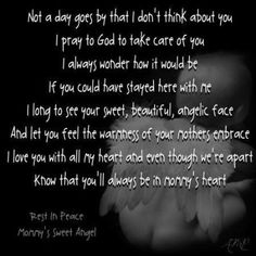 You'll always be in mommy's heart- #babyloss