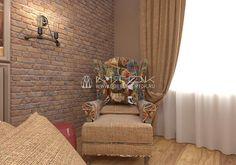 Кресло в стиле лофт с обивкой из жаккардовой ткани