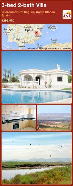 3-bed 2-bath Villa in Guardamar Del Segura, Costa Blanca, Spain ►€299,850 #PropertyForSaleInSpain