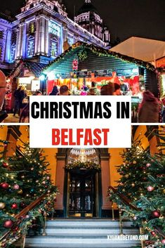 Christmas in Belfast is a time full of magic, spirit, pantomime, parades and the Belfast Christmas Market so come and enjoy a merry Irish Christmas. #Ireland #travelIreland #Belfast #Christmas  #Xmas #celebrations #SantaClaus #NIreland