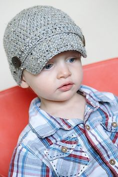 Classic Newsboy Crochet Hat Pattern Permission to by adrienneengar, $4.99